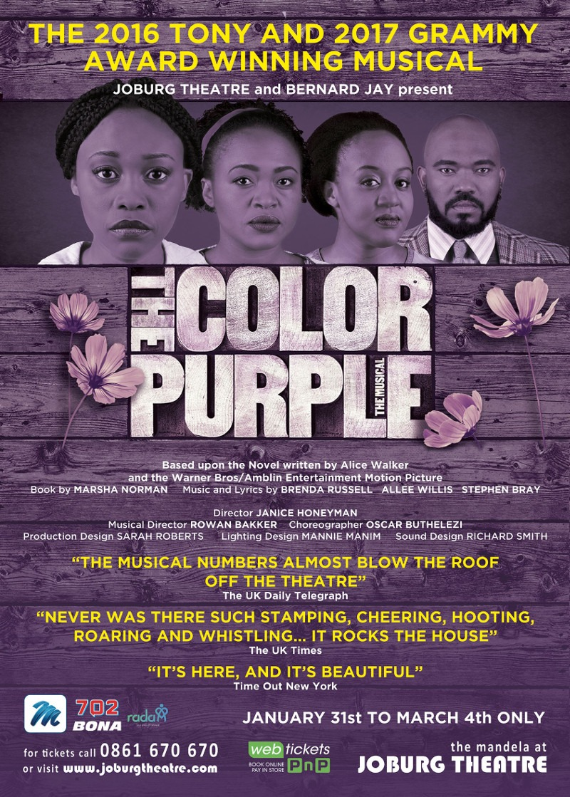 opening at the mandela at joburg theatre on january 31st 2018 and running until sunday march 4th 2018 the color purple the musical in south africa will be - The Color Purple Book Online